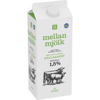 vad kostar ett paket mjölk