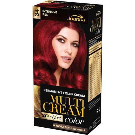 Joanna Multi Cream 34 Intensive Red Permanent Hårfärg