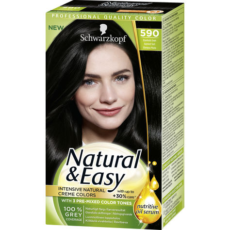Bra svart hårfärg